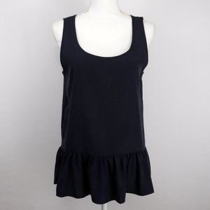 Zara Women Blue Sleeveless Peplum Hem Tank Top - S